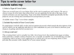 Sales Position Cover Letter Sample Cover Letter For Outside Sales Position Outside Sales Representative