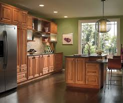 Small Picture Cherry Cabinets with Painted Kitchen Island Kemper