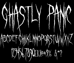 sinister fonts chad savage s original horror scary and  ghastly panic font by chad savage