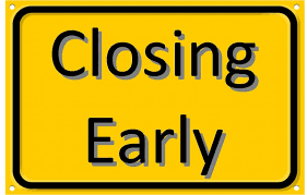 Closing Early Sign Template Halloween Closing Early Sign Festival Collections