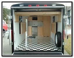 enclosed trailer shelving layout