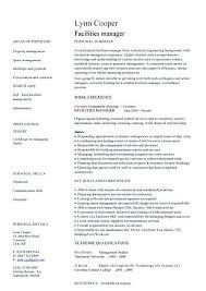 Facility Manager Resume Samples Facility Manager Resume Sample Facility Manager Resume Every