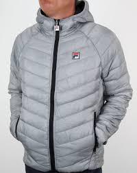 fila puffer jacket. fila vintage padded puffer jacket grey