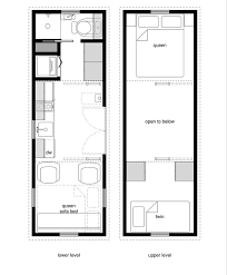 8 by 24 foot tiny house on wheels layout perfect for 2 kids and