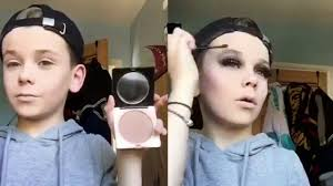 10 year old boy shows off brilliant makeup skills