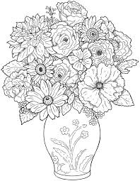 Trendy Idea Detailed Flower Coloring Pages Flowers Abstract