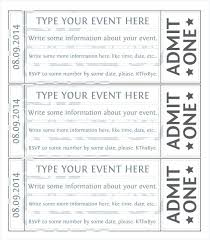 Admit One Ticket Template Free Impressive Free Ticket Design Template Haydenmediaco