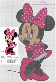 Cross Stitch Wall Hanging With Disney Minnie Mouse Free
