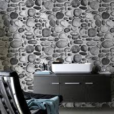 river stone design home decoration living room 3d wallpaper pictures photos