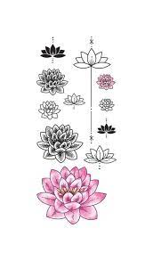 Set ornamental lotus flower vector illustrtation tattoo, patterned Indian  paisley | Flor de loto tattoo, Tatuaje de loto pequeño, Flor de loto dibujo
