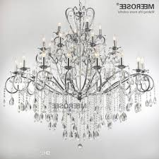 large 28 arms wrought iron chandelier crystal light fixture chrome with regard to large wrought