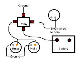 wiring diagram for car horn yhgfdmuor net how to hook up a car horn to a battery at Car Horn Wiring Diagram