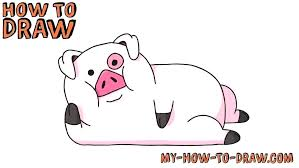 draw cartoon pig simple pig drawing large size of easy baby pig porky how to draw