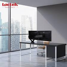 loctek dlb506d monitor arm dual monitor mounts full motion swivel gas spring for 17 30 lcd computer vesa monitor
