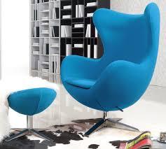 arne jacobsen egg chair replica. Turquoise Blue Wool Arne Jacobsen Egg Chair Replica With Ottoman