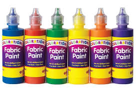 Colorations Fabric Paint, 4oz. Bottles - Set of 6