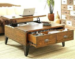 low coffee table with storage