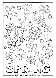 Printable Coloring Sheets For Spring Flower Pattern Coloring Pages