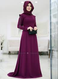 Fully Lined Crew Neck Muslim Evening Dress Somfashion