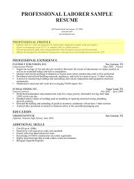 Laborer Professional Profile Photo In Profile Summary Resume