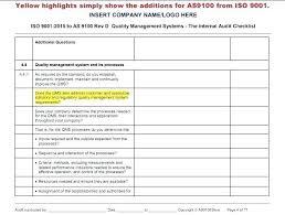 Quality Control Checklist Fresh Quality Assurance Plan