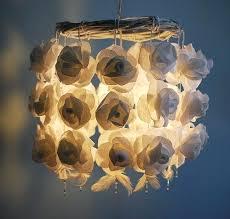 white flower lamp shade white roses paper chandelier handmade flower by ikea white flower lamp shade