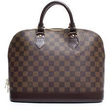 louis vuitton zipper bag. pre-owned louis vuitton damier ebene alma pm bag ($1,275) ❤ liked on zipper