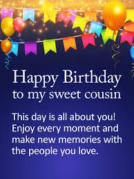 Happy Birthday Cousin Quotes Impressive Happy Birthday Card For Cousin Happy Birthday Cousin Cards As Well