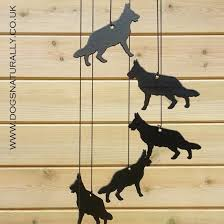 border terrier windchimes german shepherd windchimes