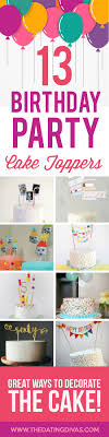 birthday party cake toppers banner