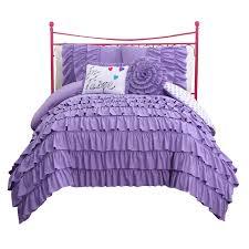 girls purple ruffle bedding