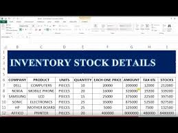 How To Maintain Your Stock In Exce Stock Maintain In Excel 35