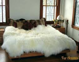 white fur area rug off black and faux sheepskin large divine rugs black fur area rug