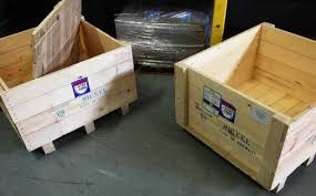 shipping crate furniture. wooden shipping crate turned into furniture_2_exposure furniture