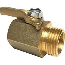 garden hose shut off valve. Happy Tree Super Heavy Duty Solid Brass Shut Off Ball Valve For Standard 3/4\ Garden Hose G