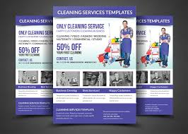 cleaning services flyer template flyer templates on creative market