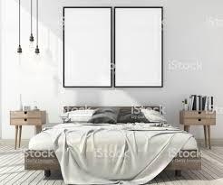 3d Rendering Vintage Minimal Mock Up Schlafzimmer Im Skandinavischen