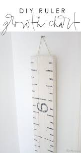 Easy Diy Ruler Growth Chart House Mix