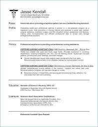 Sample Certified Nursing Assistant Resume Objective Fresh Nursing