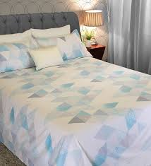 blur 210 tc 100 cotton double size bedsheet with 2 pillow covers by bohemiana
