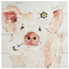 penelope pig wall art