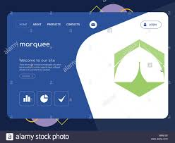 Marquee Website Design Quality One Page Marquee Website Template Vector Eps Modern