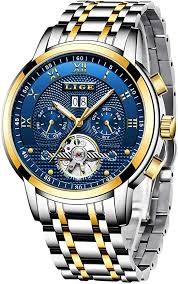 <b>Mens Watches</b> Luxury LIGE Automatic Mechanical <b>Watch Men</b> Dress