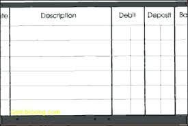 Free Printable Check Register Book Checkbook Excel