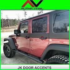 image is loading jeep wrangler door skin decals matte black 2door