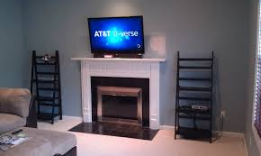 middletown ct lg tv over fireplace with soundbar