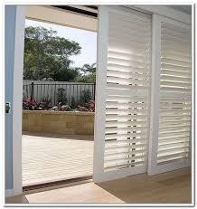 opt for shutters for sliding doors