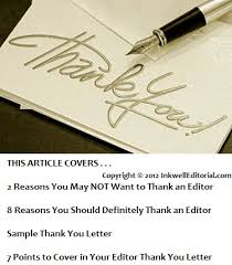 "Sample ""thank The Editor"" Letter: 7 Points You Should Cover That Can ..."