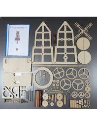 wooden wall clock windmill kit diy