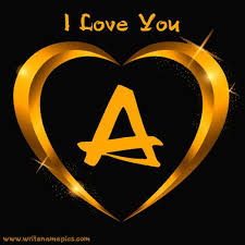 write name on love alphabet letters